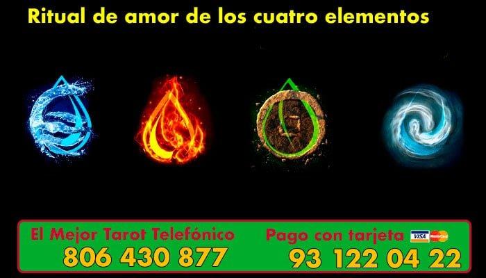ritual de amor de los cuatro elementos