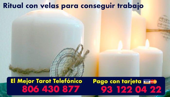 Ritual con velas blancas para conseguir el trabajo deseado